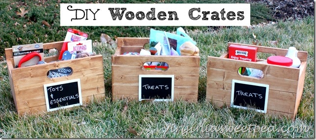 DIY Wooden Crate Tutorial by virginiasweetpea.com