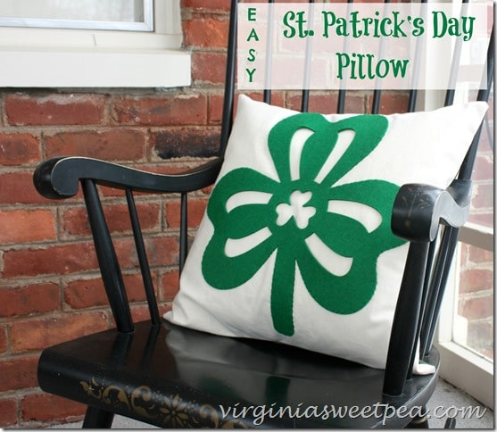 Easy St. Patrick's Day Pillows - Make Your Own Using a Dollar Store Clover