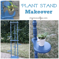 Plant Stand Makeover with Velvet Finishes Paint