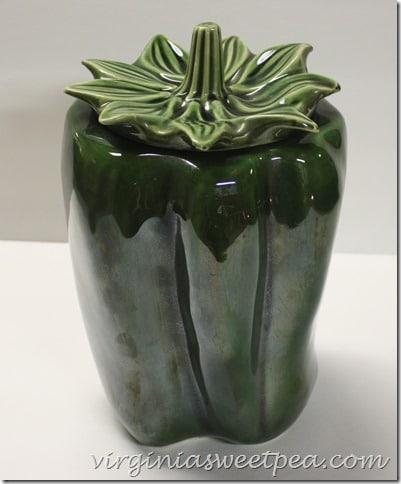 McCoy Green Pepper Cookie Jar