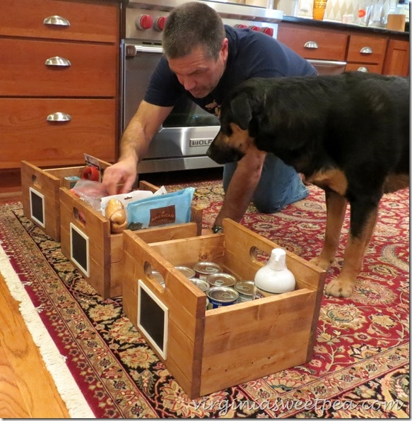 Sherman Skulina inspects his crates
