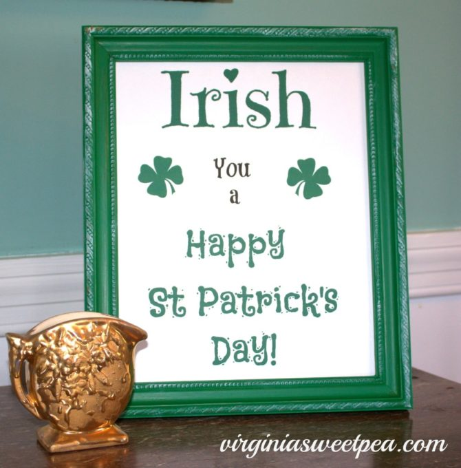 St. Patrick's Day Free Printable by virginiasweetpea.com
