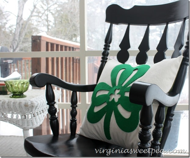 St. Patrick's Day Pillow Made from Dollar Store Clover