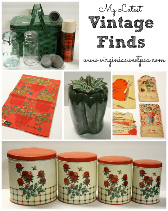 My Latest Vintage Finds - You won't believe all of the great stuff that my teacher assistant gave me.