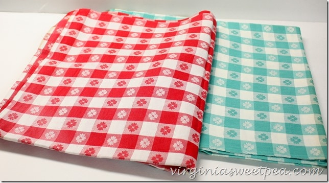 Vintage Checked Tablecloths