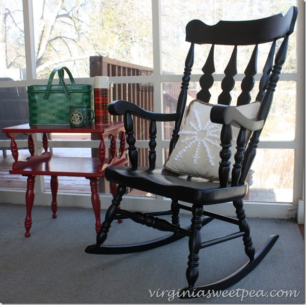 Goodwill Rocking Chair Makeover with Paint