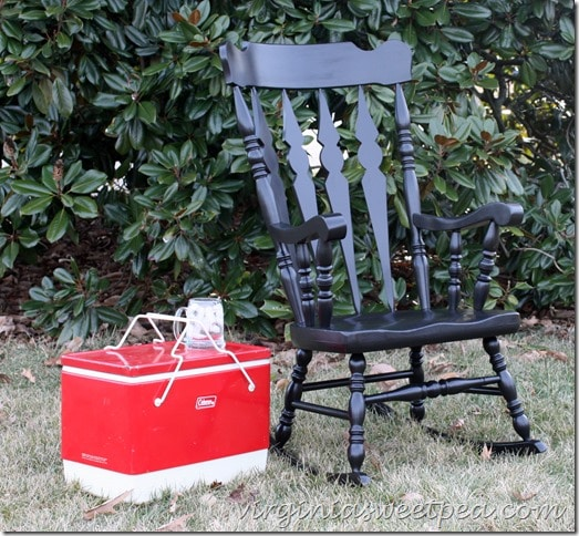 Rocking Chair Makeover with Paint by virginiasweetpea.com