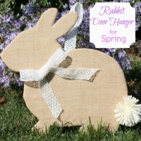 Burlap Rabbit Door Hanger for Spring