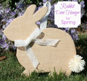 Burlap Rabbit Door Hanger