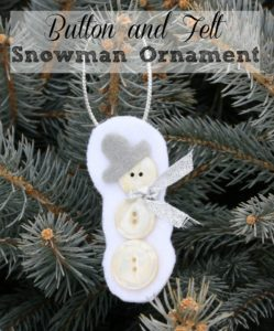 Button and Felt Snowman Ornament