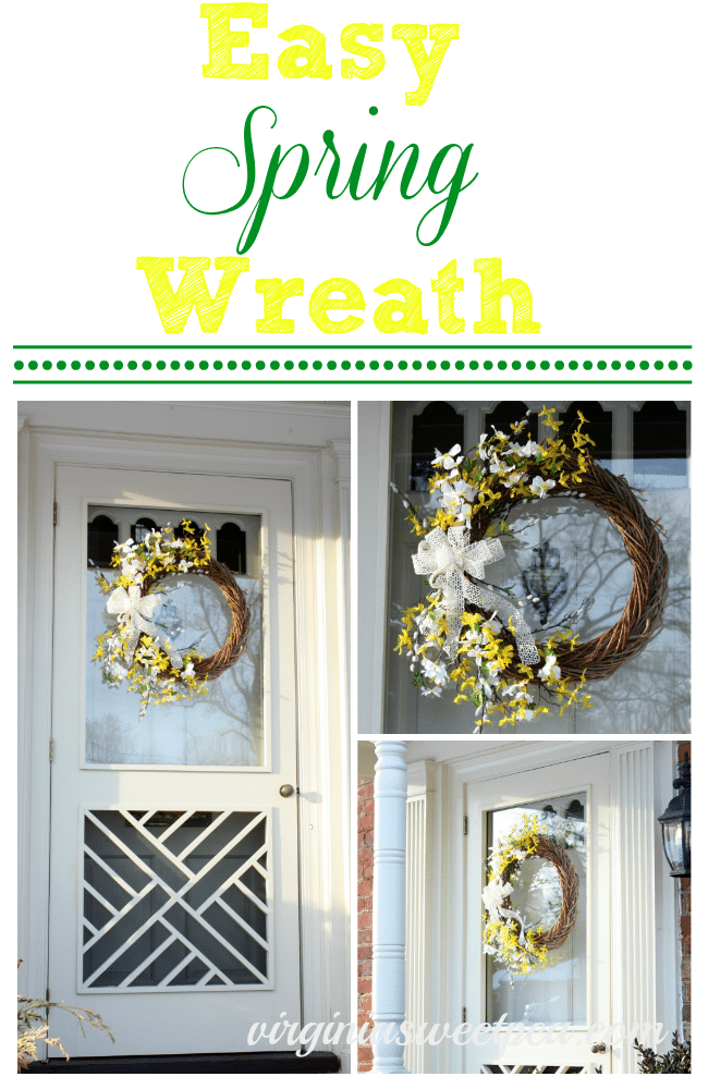 Easy Spring Wreath by virginiasweetpea.com