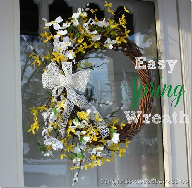 How to Make an Easy Spring Wreath by virginiasweetpea.com