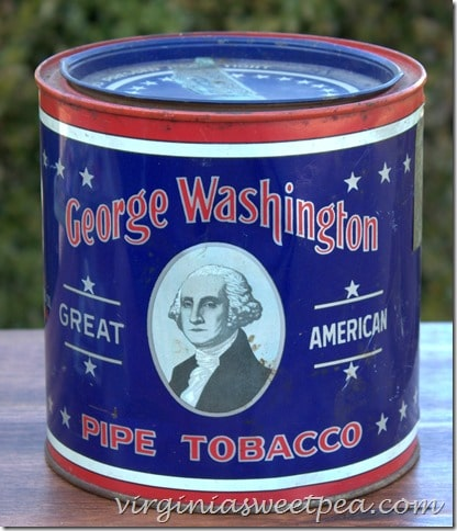 Vintage George Washington Pipe Tobacco Tin