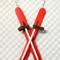 Popsicle Stick Ski Ornament