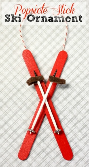 Popsicle Stick Ski Ornament