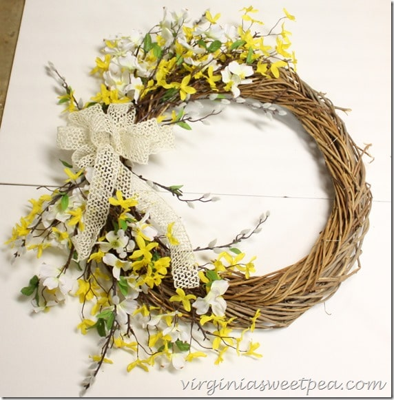 Easy Spring Wreath Directions