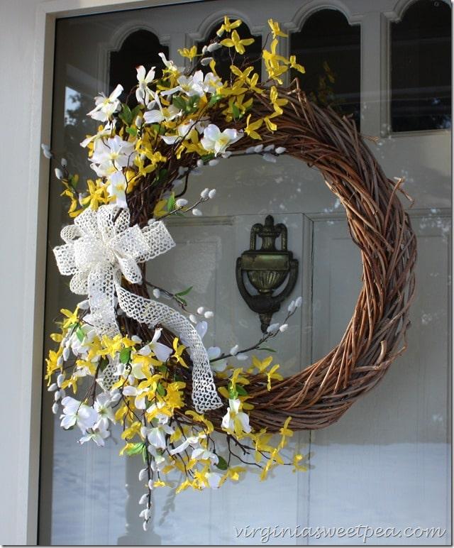 easy spring wreath sweet pea