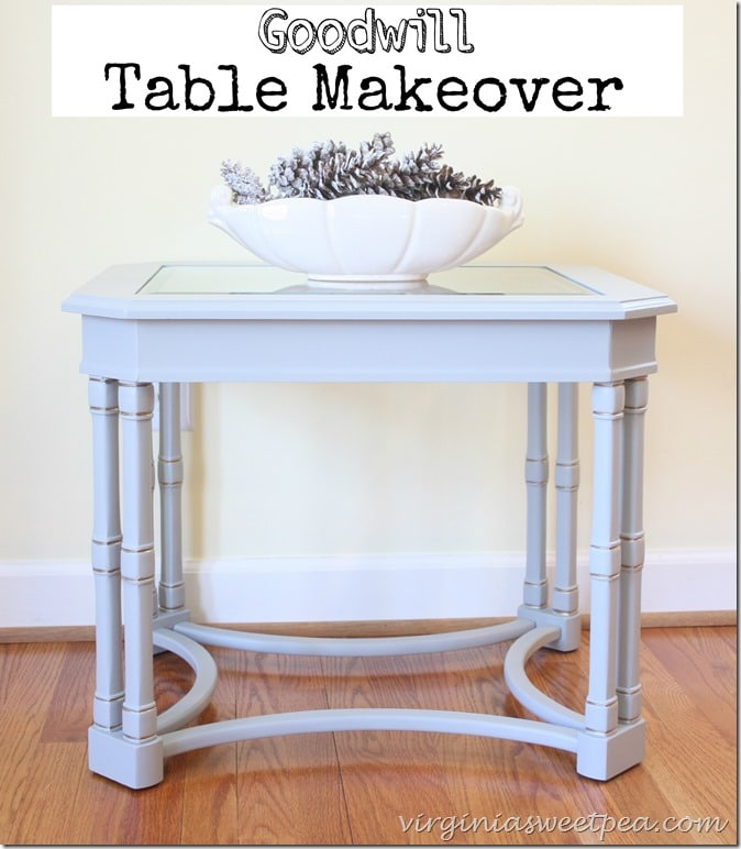Goodwill Table Makeover with Velvet Finishes Paint by virginiasweetpea.com