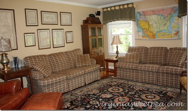 September Update to Family Room - Vintage Map