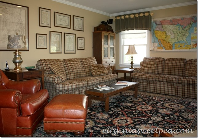 Family Room Update with 1960's Furniture Mixed with Antiques