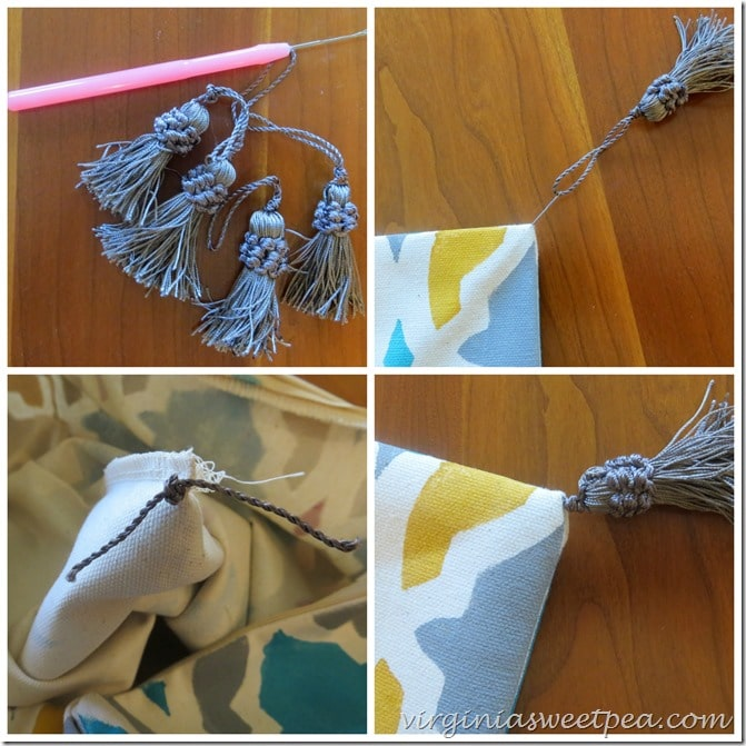 How to Add Tassels to a Pillow