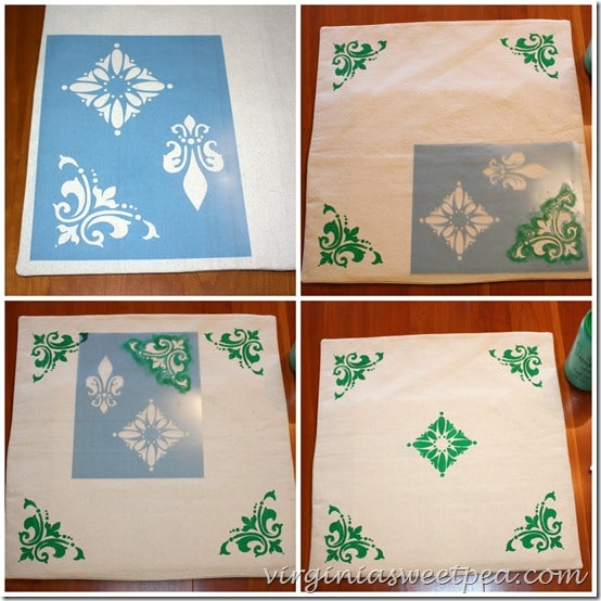 How to Stencil a Pillow Cover