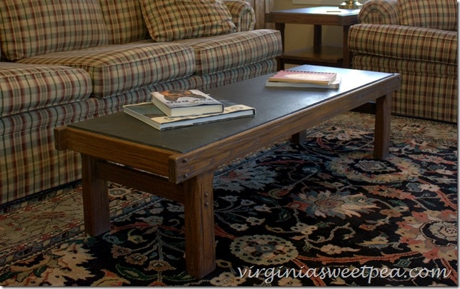 Late 1960's Coffee Table with State Top