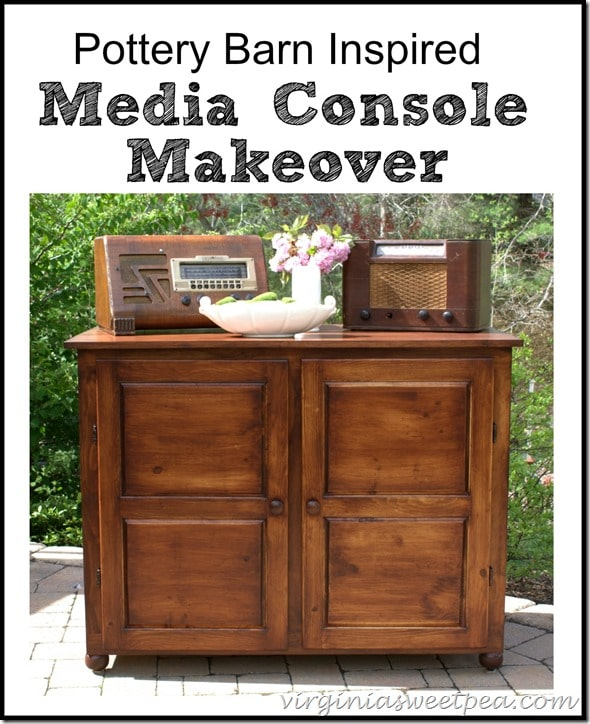 Pottery Barn Media Console Makeover - Inspired by Bowry Reclaimed Wood Media Console