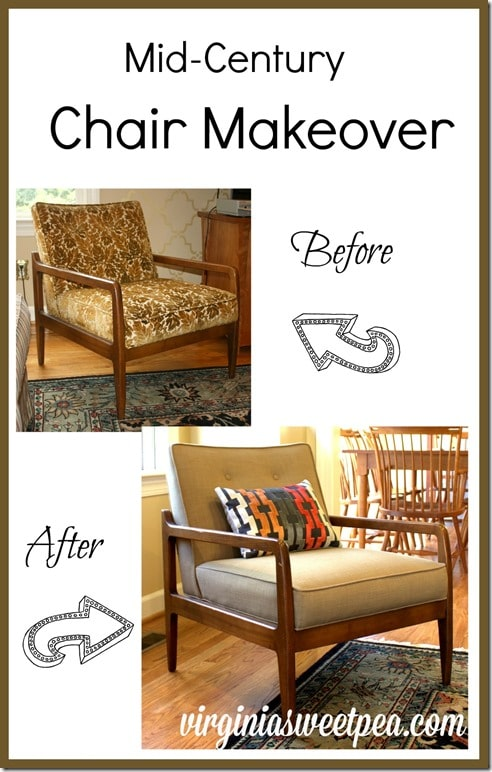 Mid-Century Chair Reupholstered