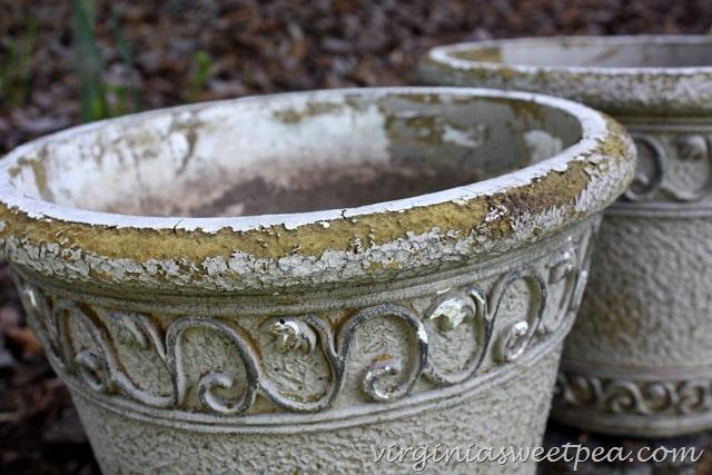 flower pot before makeover