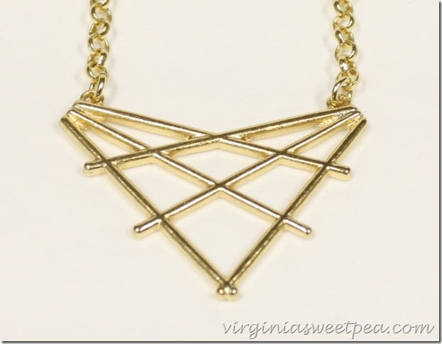 Roxbox Slate Geometric Pendant Necklace