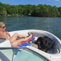 Sherman Skulina at Smith Mountain Lake