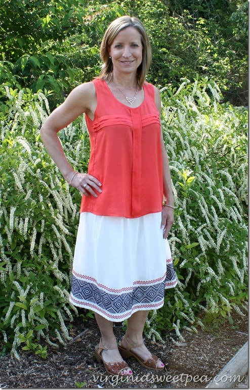 Stitch Fix skirt and top for May 2015 - I liked both of these but returned them in the end.  virginiasweetpea.com
