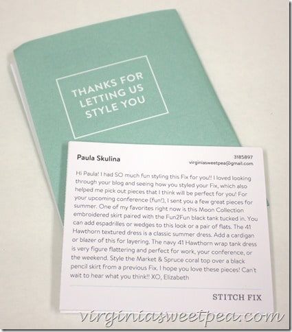 Stitch Fix for May 2015