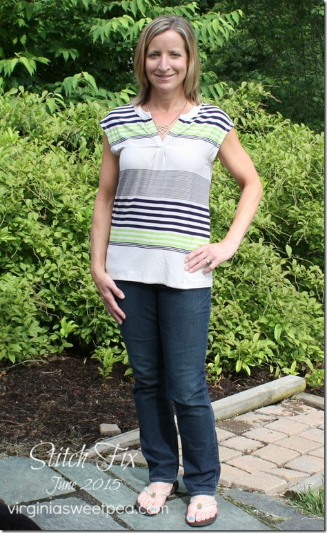 This top is from my 25th Stitch Fix box. I kept all five items this month. virginiasweetpea.com #stitchfix