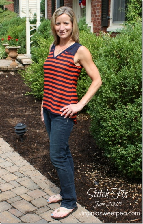 Adorable top included in my latest Stitch Fix box. virginiasweetpea.com #stitchfix