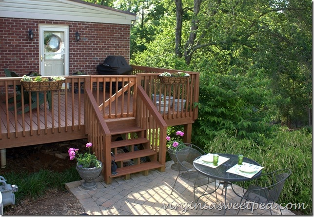 Deck refresh for summer by virginiasweetpea.com