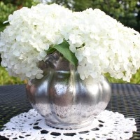Make a faux mercury glass vase. virginiasweetpea.com