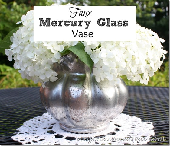 DIY Faux Mercury Vase - Follow this tutorial to transform any vase into a mercury glass one.  virginiasweetpea.com
