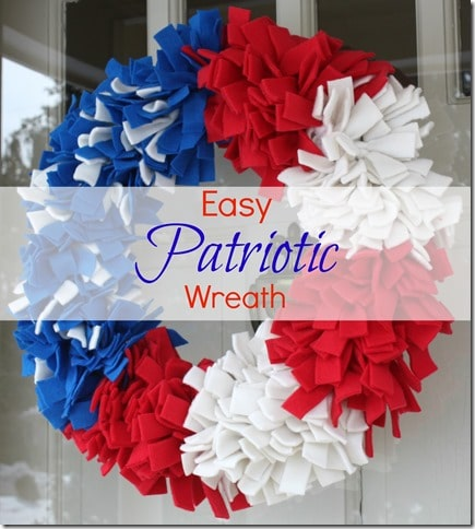 easy patriotic wreath made with felt