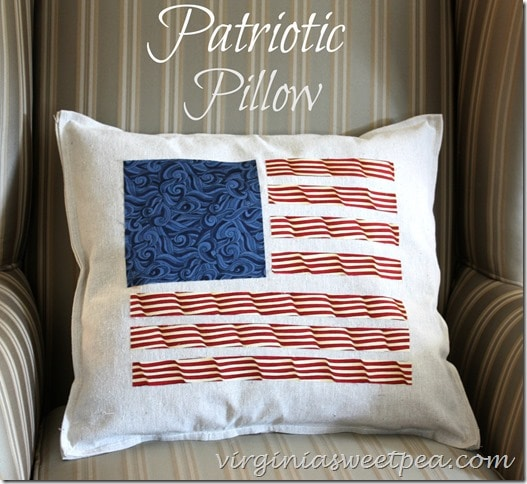 patriotic-pillow-using-a-drop-cloth-and-quilting-fabric