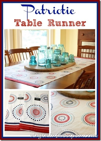 Easy Patriotic Table Runner