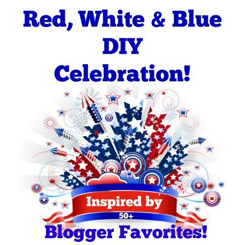 Red, White and Blue DIY Celebration - Get Inspired for July 4 by projects from bloggers.