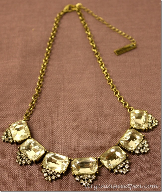 Rockbox Perry Street Olive Necklace - Love the vintage look of this piece.  virginiasweetpea.com