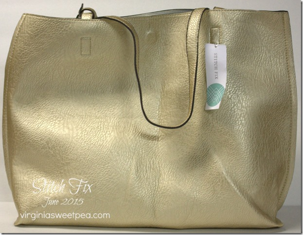 Stitch Fix #25 - This tote bag is reversible and comes with a smaller attached bag. virginiasweetpea.com #stitchfix