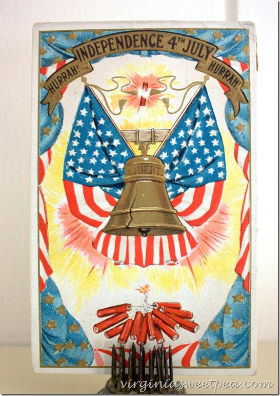 1907 Vintage 4th of July Postcard
