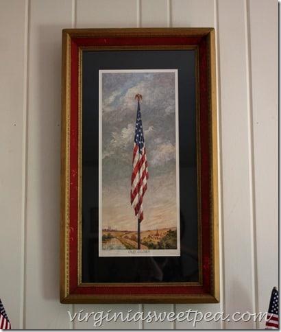 """Vintage """"Old Glory"""" Flag Print - virginiasweetpea.com"""