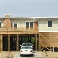 Tour a 1946 Nags Head beach cottage that has been moved and renovated. virginiasweetpea.com
