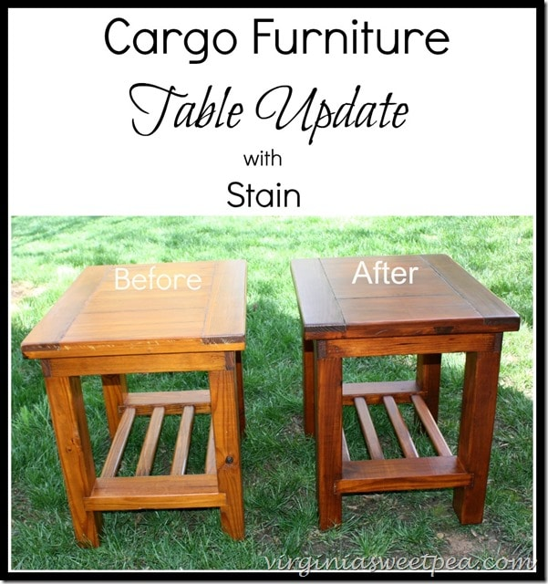 Cargo Garden Furniture Two makeovers 1960s lamp and 1980s cargo tables sweet pea end tables purchased in the 1980s from cargo furniture get a makeover with general finishes stain workwithnaturefo