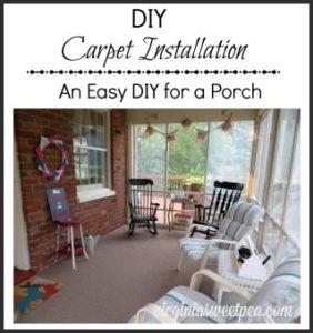 DIY Carpet Installation – Mini Porch Makeover